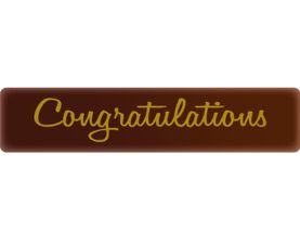 Congratulations Chocolate Decor