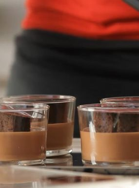 Manjari chocolate mousse verrines