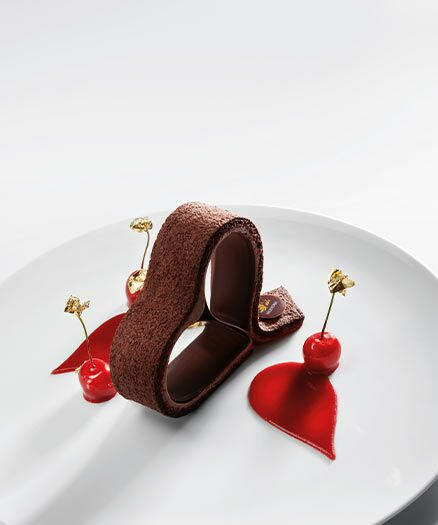 Valentine Heart Chocolate Dessert
