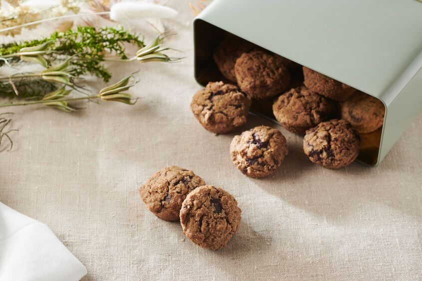 Gluten Free Buckwheat And Chocolate Chip Shortbread Biscuits