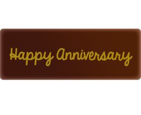 happy anniversary chocolate decor