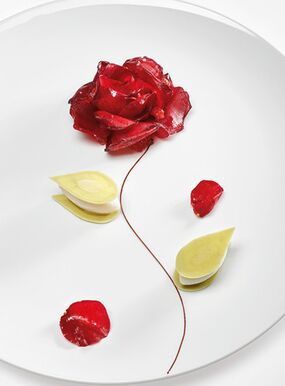 Postre Painted rose