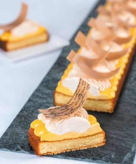 Almond & Passion Fruit tart