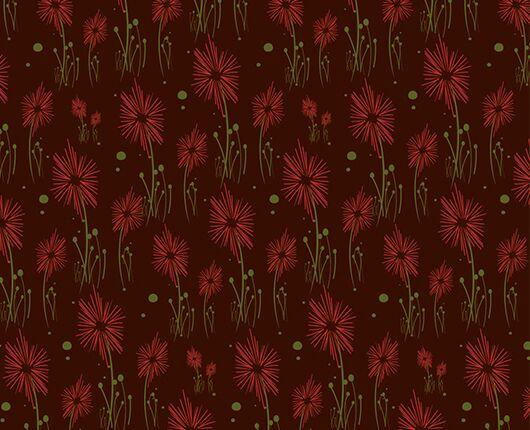 Red Flowers Transfer Sheet