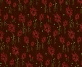 Red Flowers Transfer Sheet