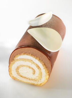 Bûche roulée glacée Vanille-Chocolat