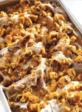 Crème glacée Taïnori parfait vanille et éclats de cookies