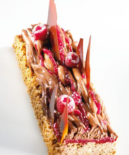 Pressed Raspberry Tart