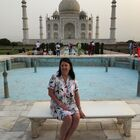 Leah Quinn at the Taj Mahal