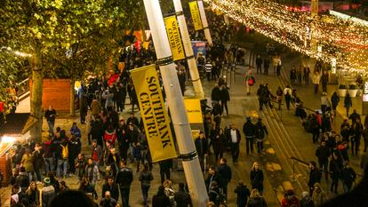 Southbank Centre Winter Market .Riverside Terrace.Shops.Market.Royal Festival Hall