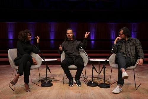 June Sarpong, Akala and David Olusoga in conversation at Southbank Centre's London Literature Festival