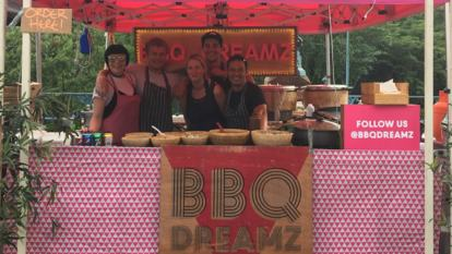 BBQ Dreamz street food stall team