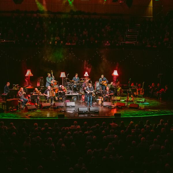 Musicians performing on stage at the Royal Festival Hall