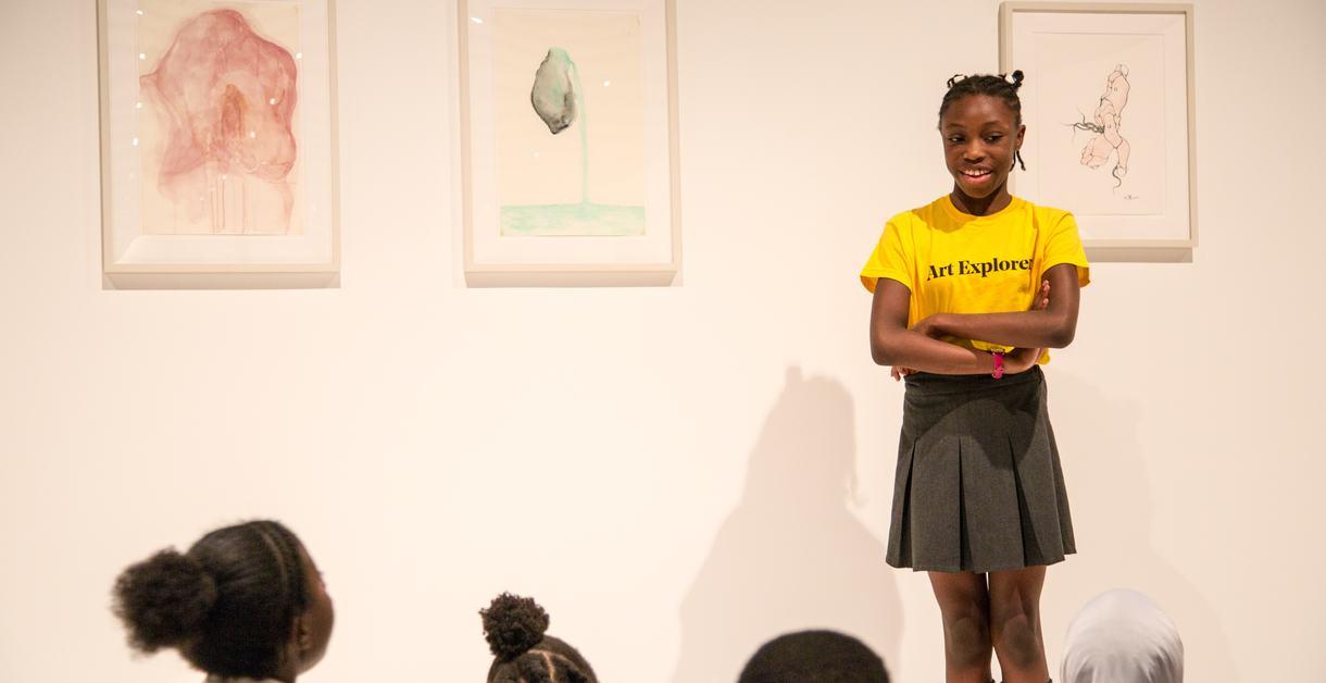 School pupils at Hayward Gallery