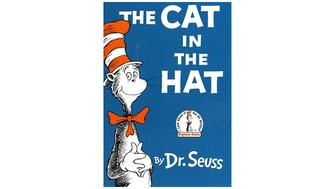 Front cover of the popular children's book The Cat in the Hat