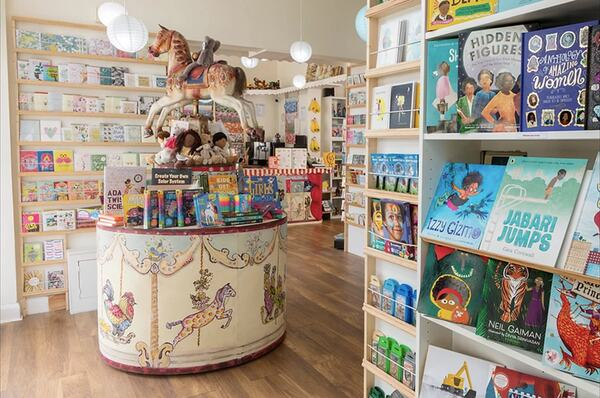 The interior of Moon Lane Bookshop in South London