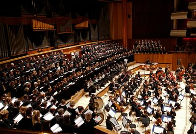 The Bach Choir performing in Royal Festival Hall