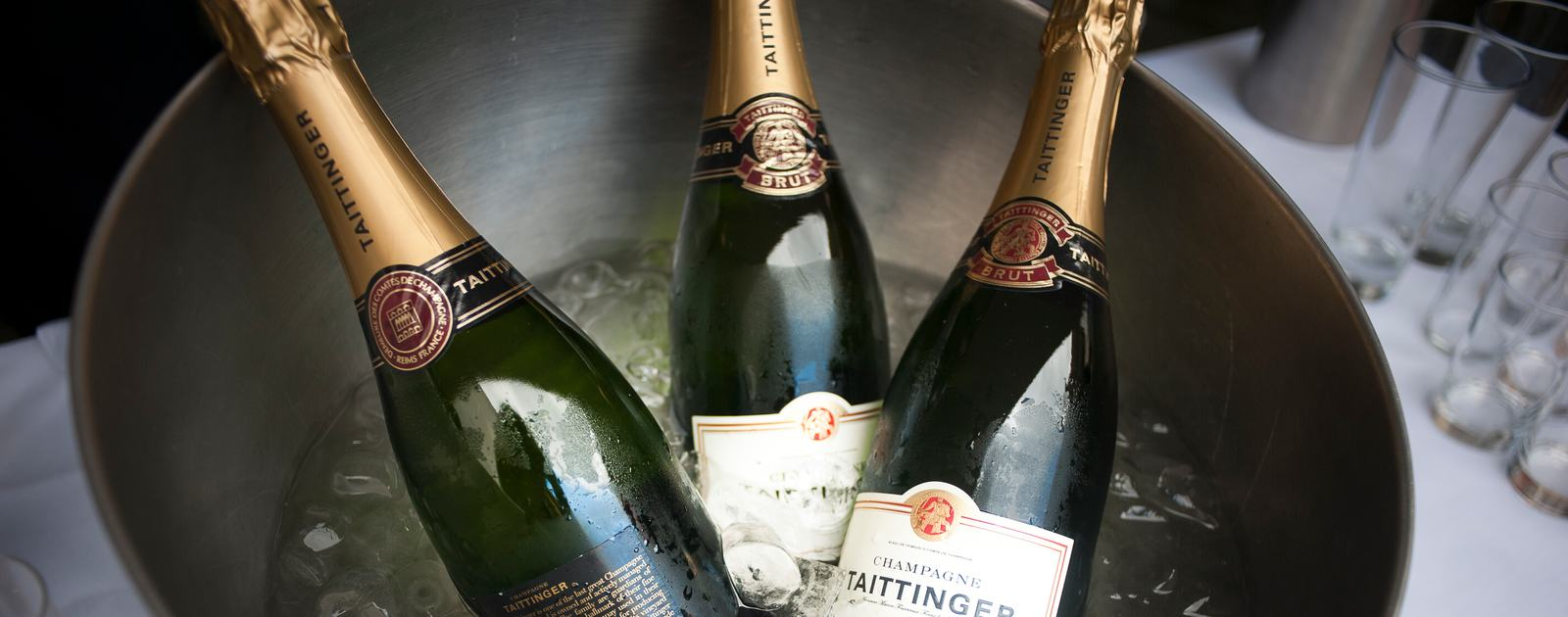 Champagne Bottles at a Wedding at the Royal Festival Hall Photo by Rebecca Portsmouth 2012
