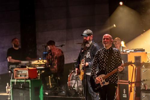 Mogwai perform on stage at Royal Festival Hall as part of Meltdown festival 2018, curated by Robert Smith