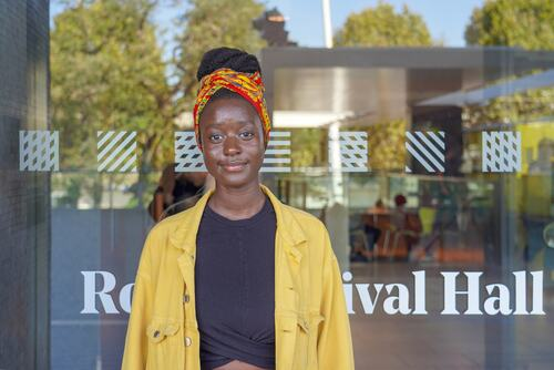 Ramatouile Bobb, standinging outside Royal Festival Hall