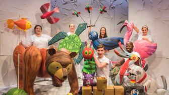 The set of The Very Hungry Caterpillar