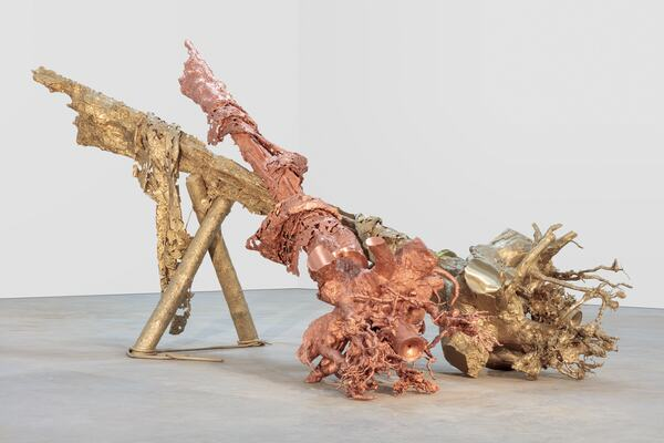 Matthew Barney, Virgins, 2018. Cast and machined brass, and cast and machined copper. © Matthew Barney, courtesy Gladstone Gallery, New York and Brussels