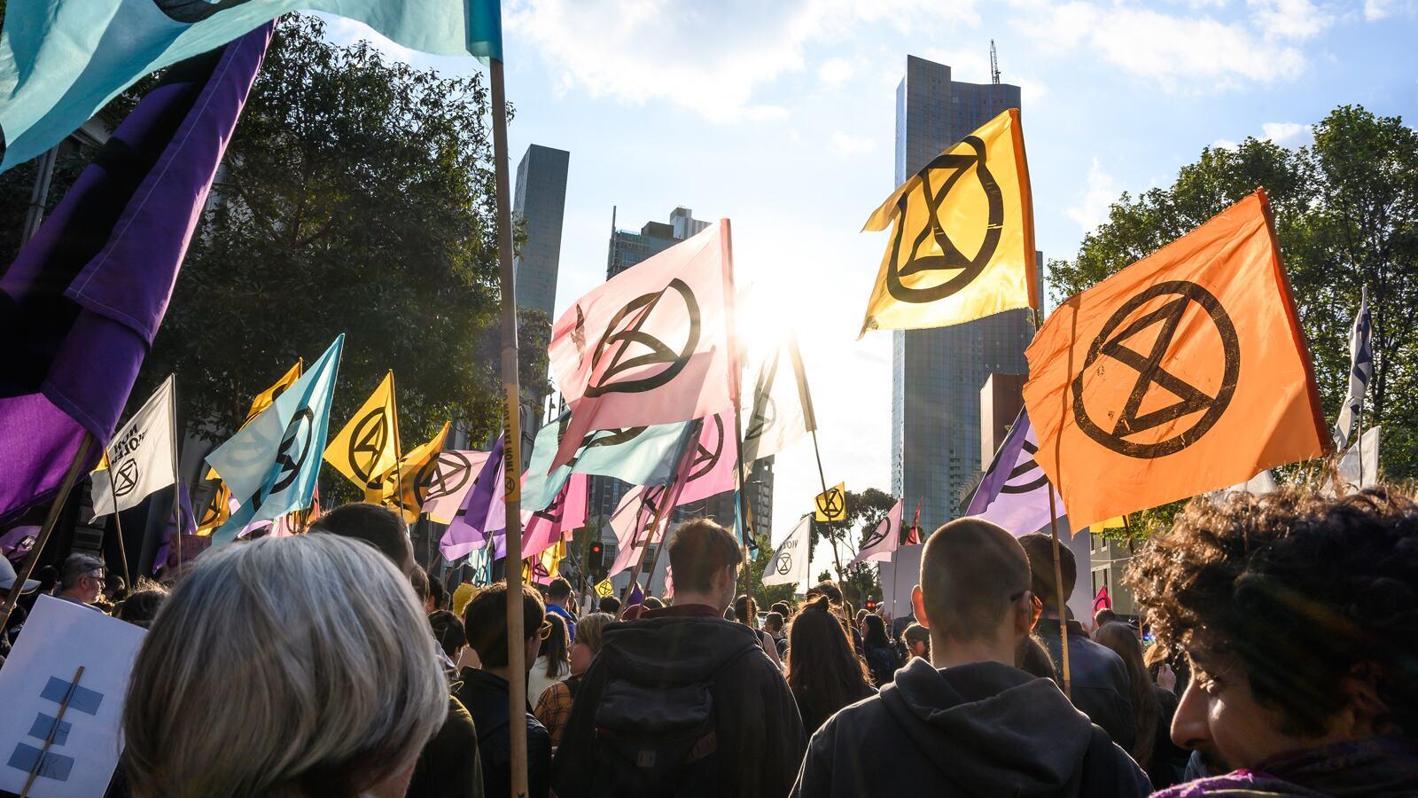Extinction Rebellion protesting