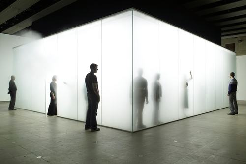 Blind Light 2007 by Antony Gormley at Blind Light Exhibition at The Hayward 2007. Photo copyright Stephen White