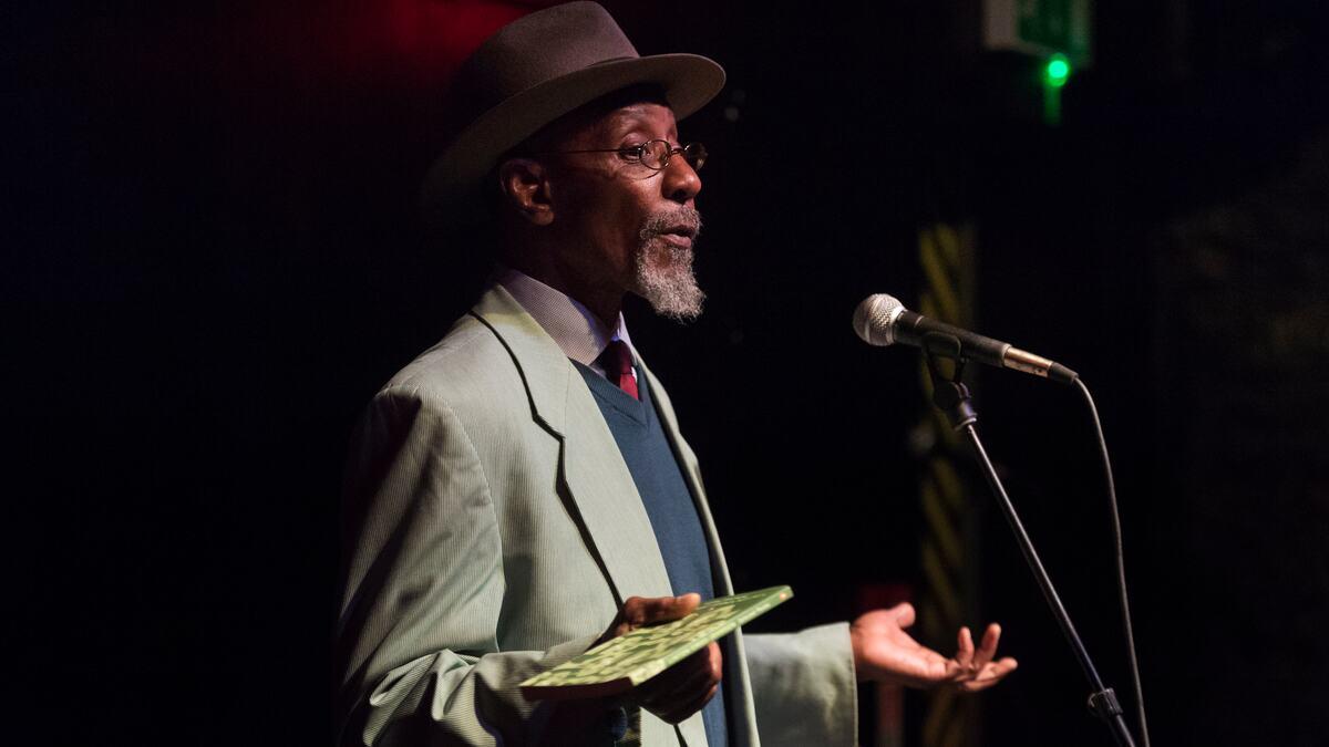 Linton Kwesi Johnson Glasgow International Opening, Poetry Club