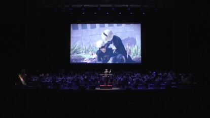 NieR orchestra on stage