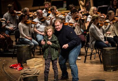 Peter Grimes at a dress rehearsal