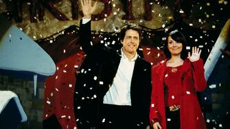 Hugh Grant and Martine McCutcheon in a still from the film Love Actually