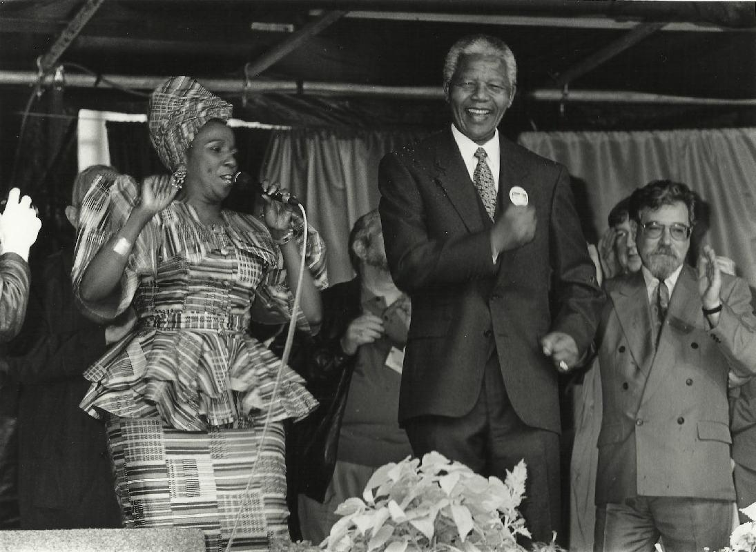 Nelson Mandela in Glasgow - October 1993