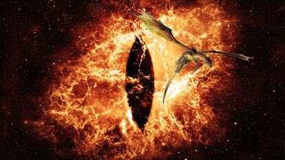 Eye of Sauron imagery from The Lord of the Rings