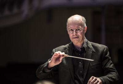 Russell Keable, conductor of Kensington Symphony Orchestra