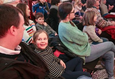 Girl in audience at Southbank Centre
