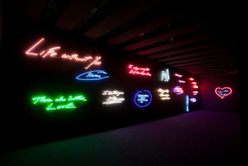 Neon..Tracey Emin: Love Is What You Want.Hayward Gallery..London.By David Levene.15/5/11.....