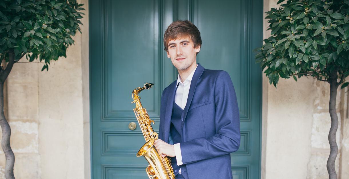 Jonathan Radford with saxophone