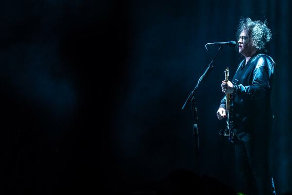 Robert Smith performs with CUREATION-25 at Southbank Centre's Royal Festival Hall as part of Meltdown 2018