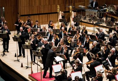 Philharmonia Orchestra on-stage