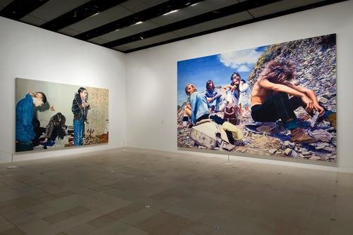 Installation View of THE PAINTING OF MODERN LIFE 2007 Exhibition at Hayward Gallery Photos by Marcus Leith