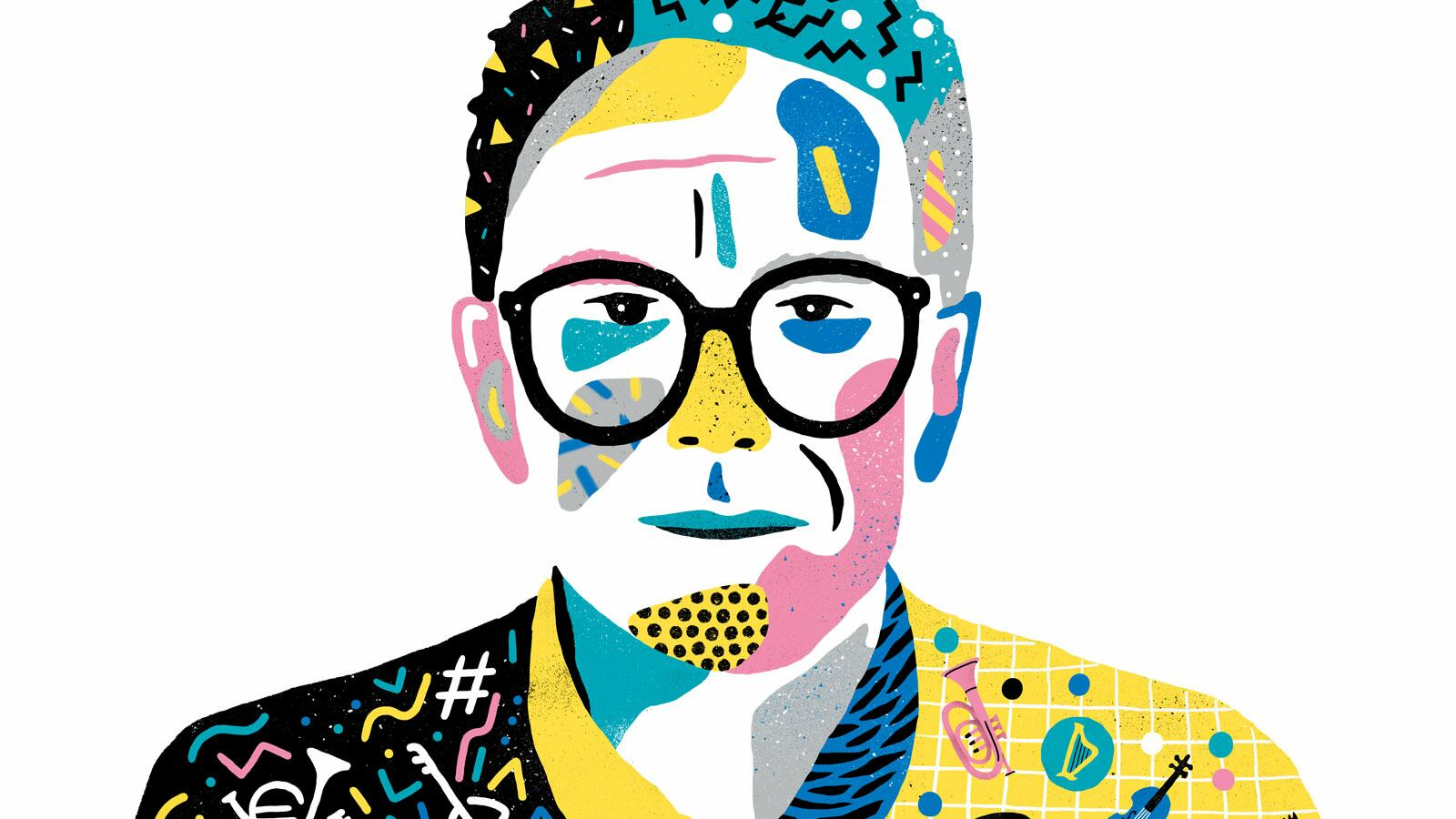Illustration of Trevor Horn, musician and songwriter