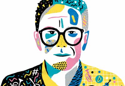 Illustration of Trevor Horn, musician and songwriter