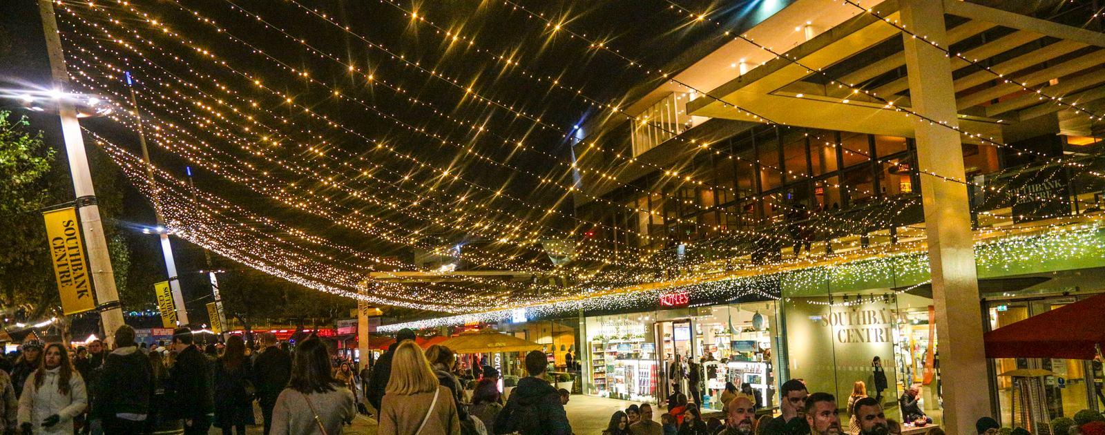 Southbank Centre Winter Market .Riverside Terrace.Shops.Market.Royal Festival Hall