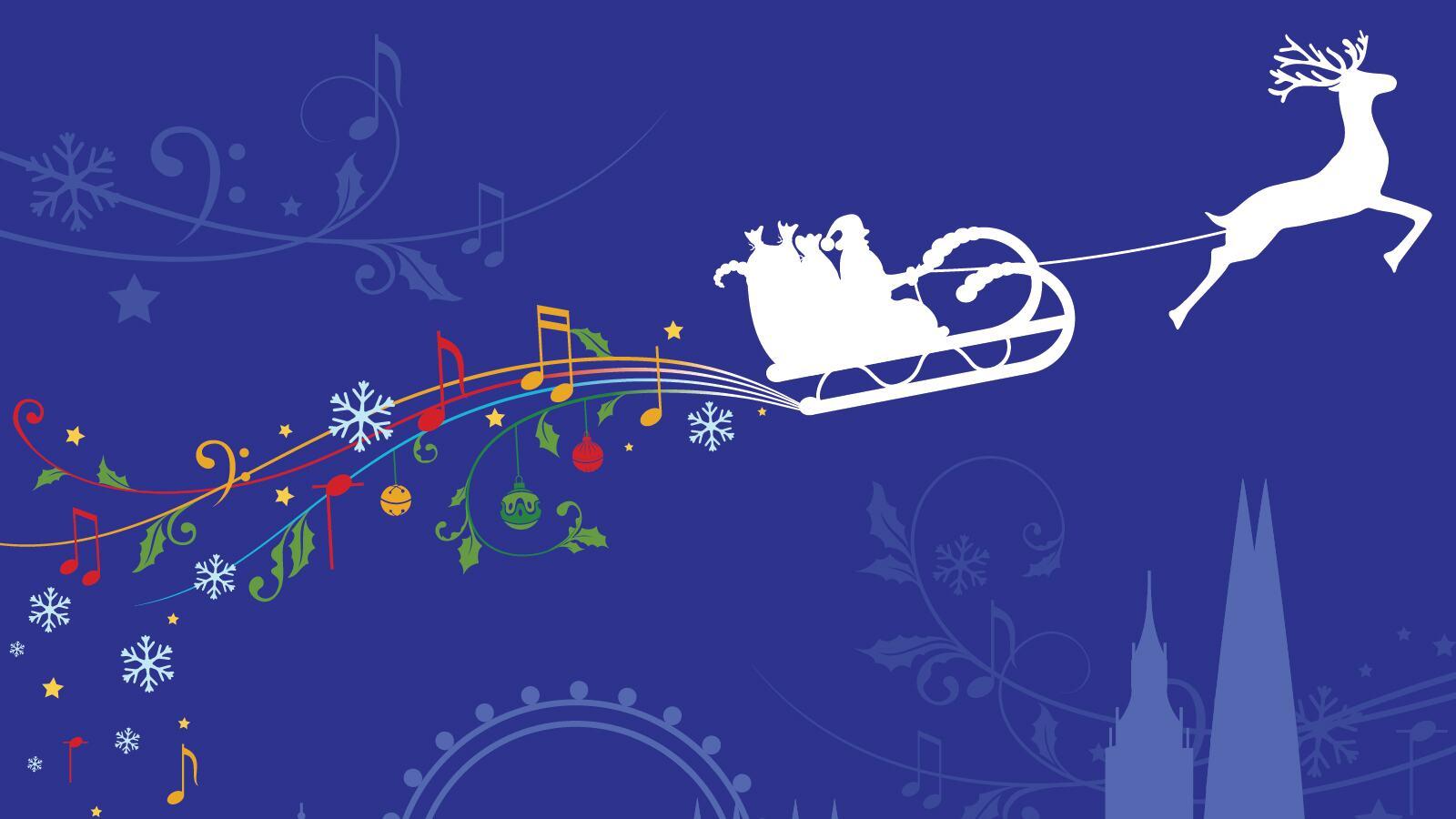 Illustration of Christmas scene