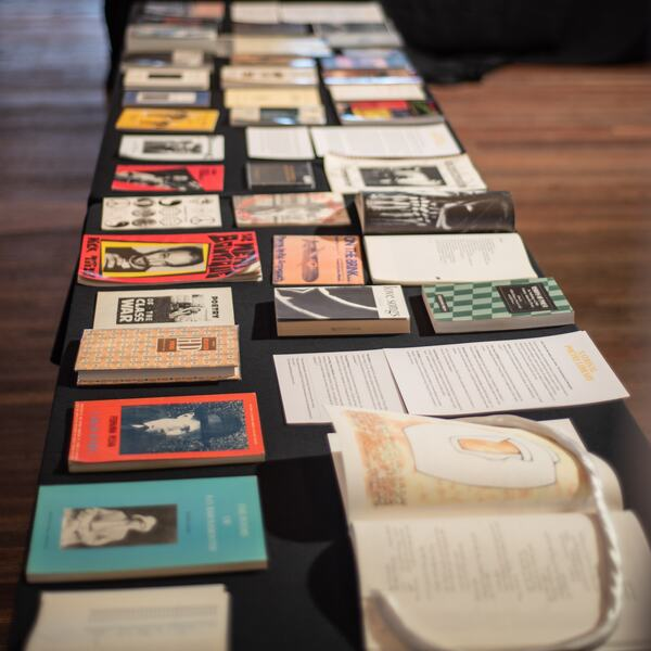 A selection of books at the National Poetry Library Open Day