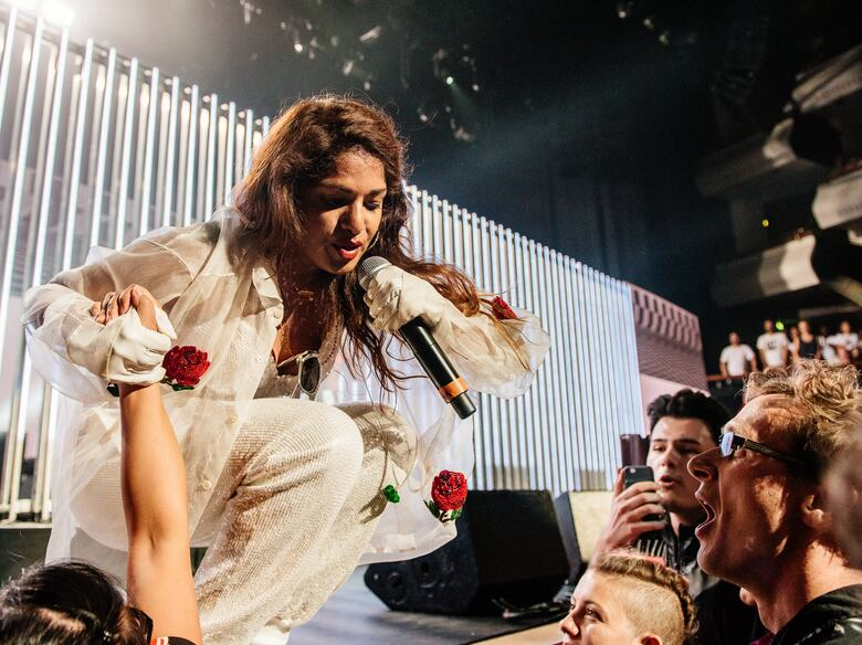 M.I.A. performing at her Meltdown Festival