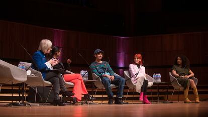 Discussion panel at the Women of the World Festival