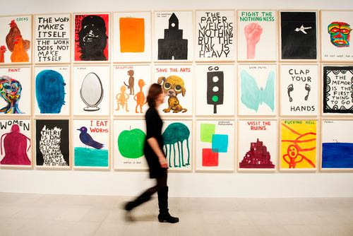 David Shrigley exhibition at Hayward Gallery, London. .Photo by Linda Nylind. 29/1/2012.