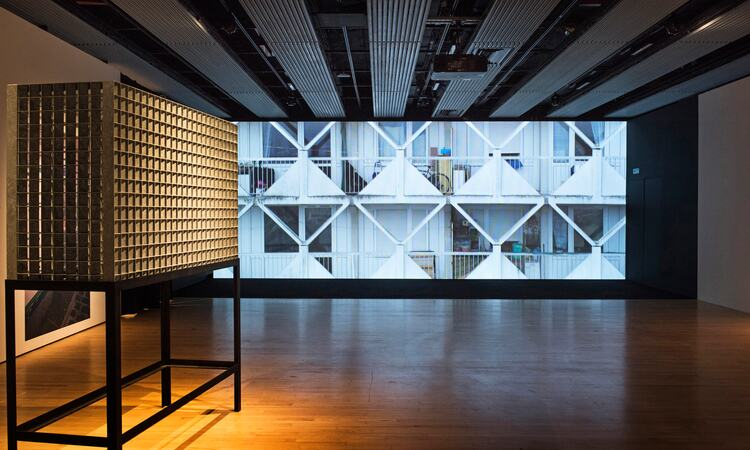 Installation view of Kader Attia: The Museum of Emotion at Hayward Gallery